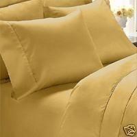 Thread Count Solide Bettdecke (1000-thread-count Ägyptische Baumwolle (nicht Mikrofaser Polyester) Bettbezug und 2Kissenbezüge, King, Gold massiv)