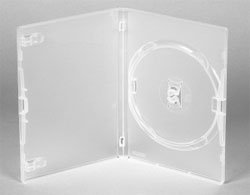 Genuine Amaray Single DVD Clear Cases 14mm Spine - Holds 1 disc - Pack of 50