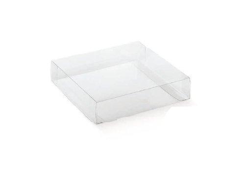 50 pz scatola trasparente pvc 10x10x5 cm portaconfetti bomboniera