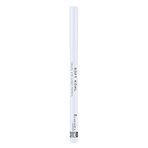 Rimmel London Soft Khol, Matita occhi, Pure White, 1.2 g, 3 pz.