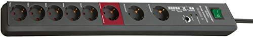 Ab 8 Steckdosen Überspannungsschutz (Brennenstuhl Secure-Tec, Steckdosenleiste 8-fach mit Überspannungsschutz und Master Slave Funktion (3m Kabel und Schalter) Farbe: anthrazit)