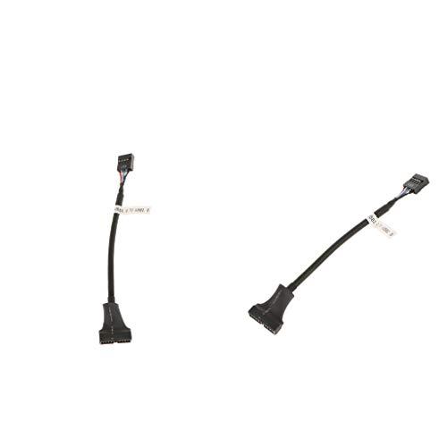 Homyl 2 Stück USB Adapter Kabel Intern 20Pin USB 3.0 Stecker auf 9Pin USB 2.0 Buchse Mainboard