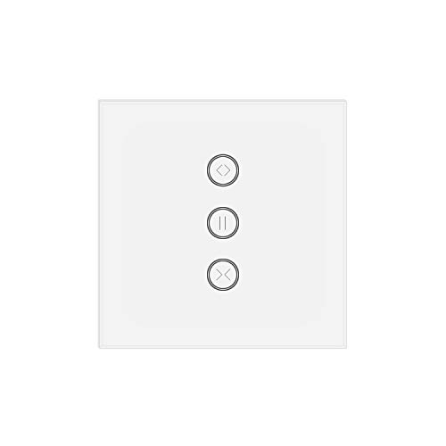 JinvooSmart UK WiFi interruptor táctil, mando a distancia inalámbrico, interruptor de cortina...