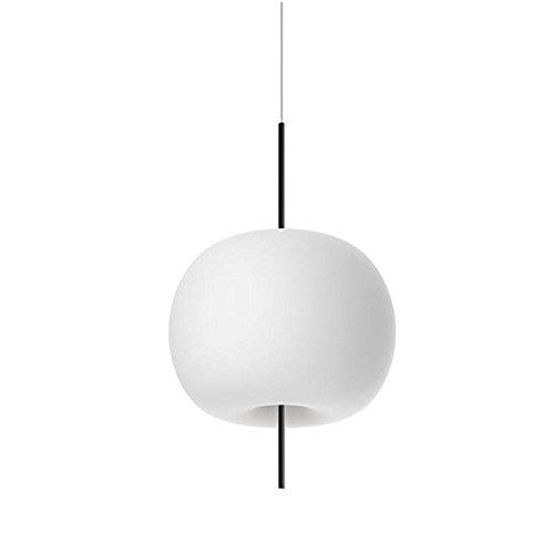 Kushi 16 LED Pendelleuchte, weiß RAL 9010 Detail schwarz H x Ø 26x16cm 2700K 600lm CRI>80