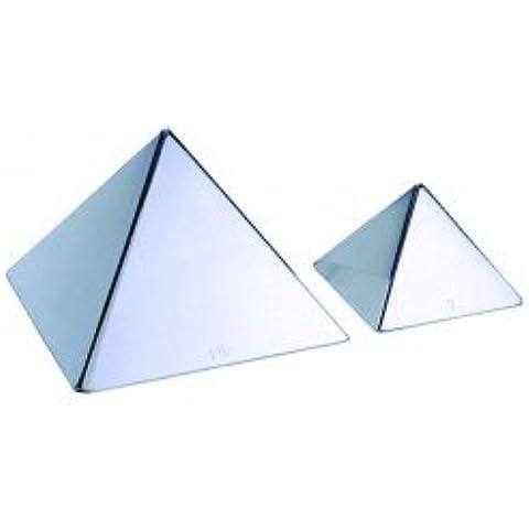 Molde Pirámide Inoxidable (Base 12 cm).