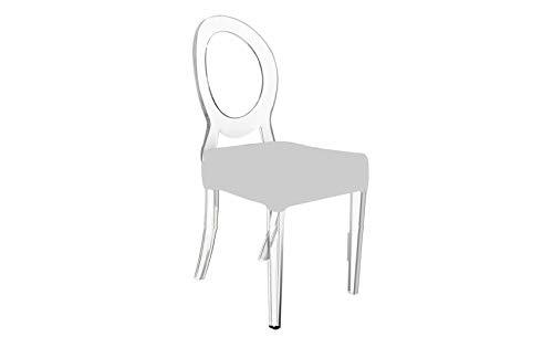 mobilier nitro Chaise Design Transparente Clara Blanche