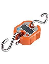 Especificaciones: Condición: 100% nuevo Color: Negro/Naranja (opcional) Carcasa de Plástico Gancho Escala Material: Acero Inoxidable + Abs Voltaje: 2.4V-3.3V Batería: Batería de 2x AAA (no incluir la batería) Corriente de funcionamiento: retroilu...