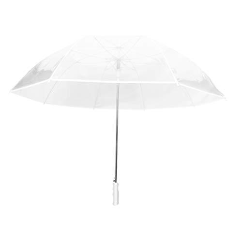 Smati ombrello trasparente automatico lungo da due - cupola; con bordo bianco matrimonio - antivento