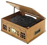 Best Record Players - Antique Wood 4 in 1 Nostalgic Retro Wooden Review