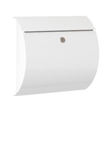 Max Knobloch Briefkasten Honolulu weiß (RAL 9010) 10 Liter Wandbriefkasten
