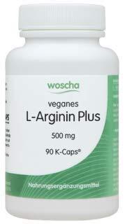 woscha L-Arginin Plus 90 K-Caps (veg. Kapseln) (vegan) (54g) - Plus L-arginin