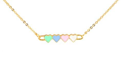 pastellfarben-halskette-herzform-kurz-goldfarben-blaugrun-blau-rosa-inklusive-geschenkbeutel