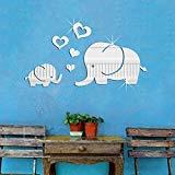 Lovely Elephant Hearts Cartoon Animal Wall Decor Art for Kids Room 3D DIY