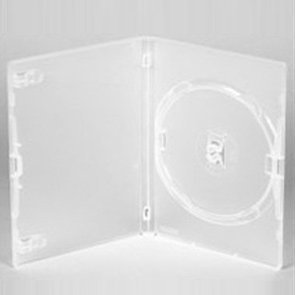 Vision Media 15 X Amaray Single Clear CD/DVD/BLU RAY Case 14mm Spine