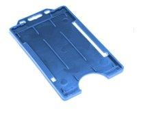 IDM Wirtschaft Offene Front Badge Holder in Hochformat (Pack 100) Blau (Medium Blue) (100 Pack Medium, Count)
