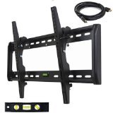 VideoSecu Tilt TV Wall Mount for 32' 37' 40' 42' 46' 47' 50' 52' 55' 58' 60' LCD LED Plasma HDTV Flat Panel Screen Display Max Load Capacity up to 165 lbs Built-in bubble level MF607B A40