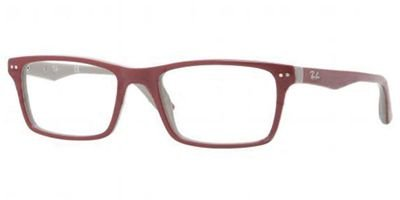 Ray Ban Optical Men's Rx5288 Top Bordeaux On Grey Frame Plastic Eyeglasses, 50mm