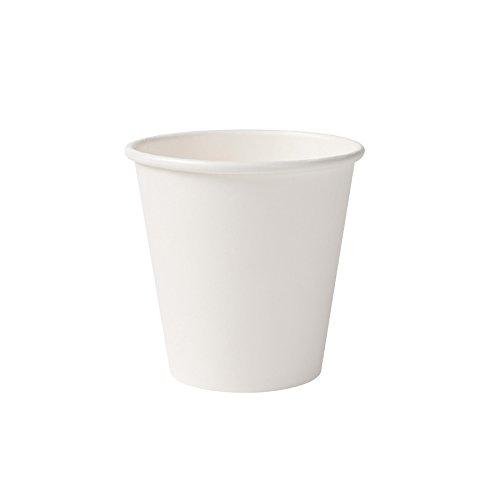 BIOZOYG Bio gobelets en Papier I jetables gobelets à Boire en Papier compostables et biodégradables I Tasse à café Blanche, Non imprimée et écologique 50 pièces 150ml 6oz