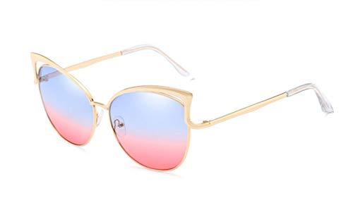 Passionate turkey Leidenschaftliche Truthahnmode Katzenauge Sonnenbrille Frauen Designer Zweistrahl Spiegel Männer Sonnenbrille Vintage weibliche Oculos de Sol, 12-bluepink