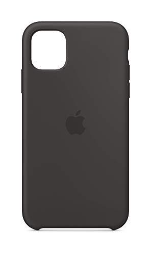 Apple Coque en Silicone (pour iPhone 11) - Noir