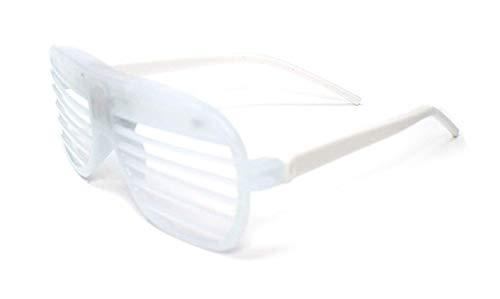 Weiß Blinkende LED Shutter Style Brille Glow Slotted Plastic Leuchten Shades Brillen Sonnenbrillen Für Musikkonzerte Crazy Parties Halloween Rave