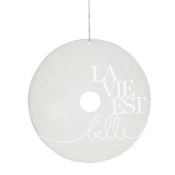 Preisvergleich Produktbild Räder ZUHAUSE Glaspoesie La vie est belle Ø 24cm