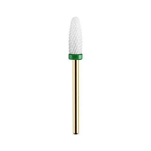 Bit-material (Premium Keramik Bit Birnenform Abfräsen Altmodellage Maniküre/Pediküre Professioneller Schleifkörper Für Nagelfräser)
