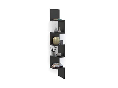 Forzza Vincent Corner Wall Shelf (Wenge)