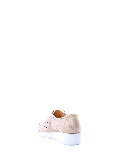 MELLUSO R2735 sabbia scarpe donna francesina puntale zeppetta Corda