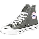 Converse All Star Hi Jungen Sneaker Grau