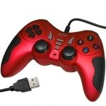 Generic USB 12 Button Double Shock Game Pad, Plug and Play, (Red)