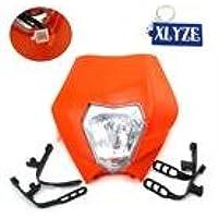 Phare moto, éclairage avant carénage orange de Xlyze pour KTM, R, SX, EXC, XC, XCF, SXF, 65,85,105,250,350,450,525,XR, WR, CR, Rmz, DR, Drz, KLX, 250moto tout-terrain