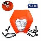 xlyze Motorrad Vorne Licht Scheinwerfer Verkleidung orange für KTM R SX EXC XC XCF SXF 6585105250350450525XR WR CR RMZ DR DRZ KLX 250Dirt Pit Bike