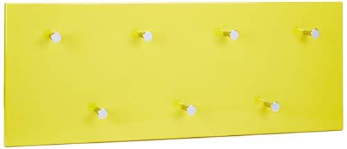 Haku möbel 42990 - attaccapanni a muro in tubo d'acciaio giallo/cromato/a specchio