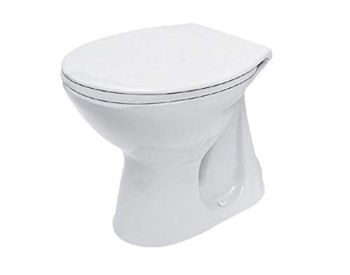 DOMINO KERAMIK WC-TOILETTE 930990 FLACHSPÜLER [OHNE WC-SITZ] ABLAUF SENKRECHT