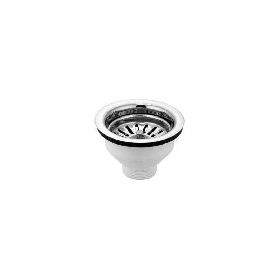 SBD PVC Duro 4 Inch Waste Coupling for Sink/Wash Basin,Drain Outlet (Chrome Finished)