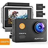 APEMAN Action Cam WiFi FHD 14MP UnterwasserKamera Wasserdichte Videocamera mit 2 Akkus and 24 Montage-Kits