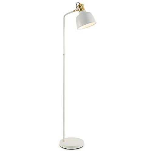 SMQ Sala de Estar Dormitorio Estudio Lectura Moderna Moderna IKEA Americana lámpara de Mesa Vertical Lámpara de pie Simple (Color : White)