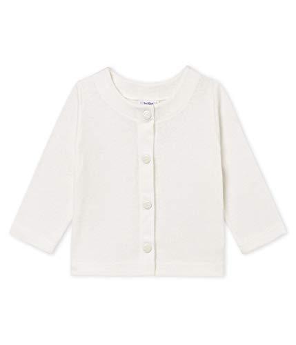 Petit Bateau Baby - Mädchen Strickjacke Cardigan_4773304, Weiß (Marshmallow 04), 98 (Herstellergröße: 36M/95cm)