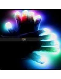Couleur changer LED clignotant gants pour Clubs, Raves, Festivals, Halloween, etc. de Bonfire Night. One size fits all, piles comprises.