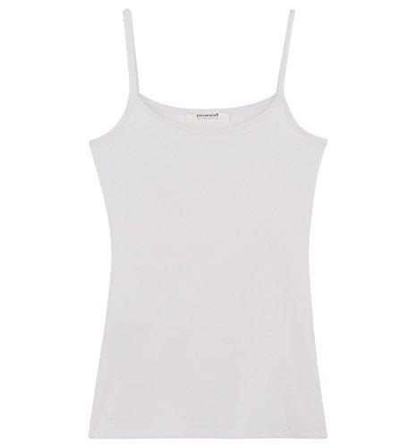 Promod Top à fines bretelles Femme Blanc