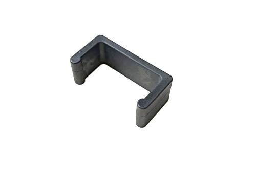 CLP Polyrattan Gartenmöbel Rundrattan-Verbindungsstück I Verbindungsklammer Gartenmöbel I Halteklammer für einzelne Elemente Schwarz