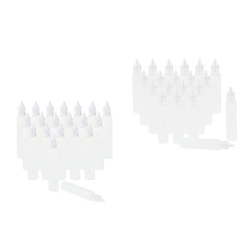 Fenteer Set 40x Compte-gouttes Flacons Compressible Bouteilles peinture