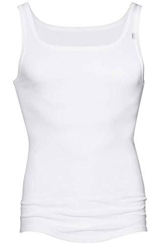 Mey Herren Unterhemd - Noblesse 2800 - Weiß - Größe 5 - Shirt aus reiner Baumwolle - Tank Top ohne Seitennähte - Feinripp - Maschinenwäsche bis 95 Grad (Top Pima-baumwolle, Tank)