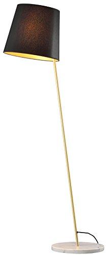 Fambuena Lámpara de Pie E27, 70 W, Dorado y Negro, 38 x 170 cm