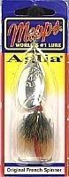 Mepps Aglia Dressed Treble Angeln Lure, 1/85g, Silber/braun Schwanz