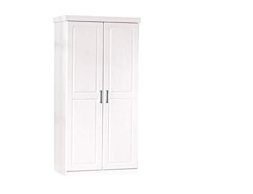 Inter Link Alpine Living Kleiderschrank Designschrank Schlafzimmerschrank Garderobenschrank Kiefer massiv weiss lackiert