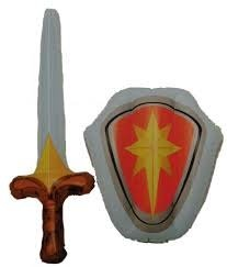 aufblasbaren Schwert und Schild Spielset - ()