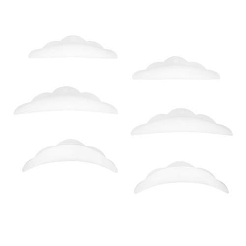 D DOLITY 3 Paar Silikon-Pads für ein perfektes Wimpernlifting! - Größe S M L, Nachfüllpackung, Wimpernwelle, Wimpern-Curler, Silikon Curler, Silikon-Röllchen