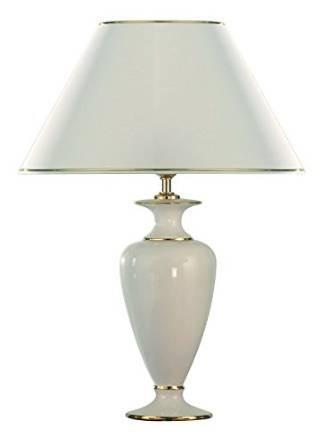 Lampada da tavolo con base in ceramica color oro/materiale/altezza 37